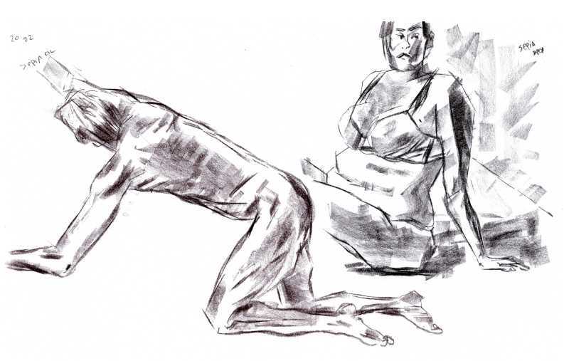 Figurative drawing from Line of Action site