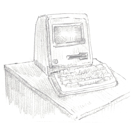 A 1984 Apple Macintosh drawing